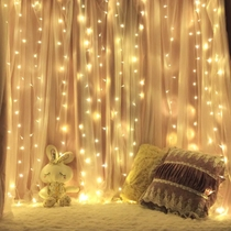 Curtain Lights star lights red room layout bedroom decoration lights romantic hanging lights waterfall lights flashing lights string lights