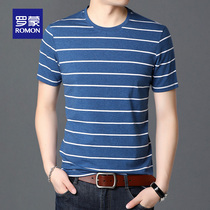 Lomond 2020 summer T-shirt men casual handsome new round-collar summer coat Korean version of the trend repair body shirt thin