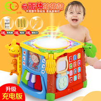 Valley Rain game Table multifunctional toy table Puzzle toy children Hand Pat Drum number 1-3 year old baby game table