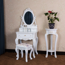 European dresser bedroom dresser simple small type makeup cabinet French ivory white white makeup table special Offer