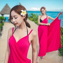 Holiday Beach beach skirt bikini blouse V-neck halter strap swimsuit veil wrap skirt female sun jacket summer