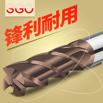 Taiwan SGO 58 degree cutter tungsten steel cutter 4 Edge CNC CNC alloy washing cutter alloy end mill