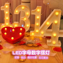 led luminous alphanumeric symbols modeling happy birthday wedding party romantic confession KTV decorative arrangement