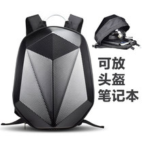 Carbon fiber motorcycle riding backpack shoulder Knight male motorcycle helmet hard shell waterproof reflective helmet