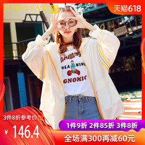 Sports Sun clothing women short section 2019 summer New loose thin section casual jacket wild sunscreen Europe summer