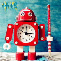 Transformers alarm clock robot alarm clock creative student alarm clock cute children cartoon silent metal alarm clock