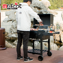 Outdoor craftsman Titan barbecue stove home grill charcoal garden bed and breakfast Villa courtyard large American BBQ