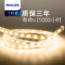 Philips lights with led light bar living room three-color line light bar home 220v white light strip color super bright white