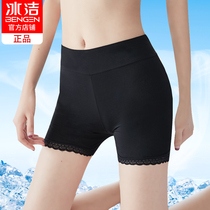Ice clean safety pants anti-light female summer lace thin paragraph leggings Ice Silk large size outside wear modal insurance shorts