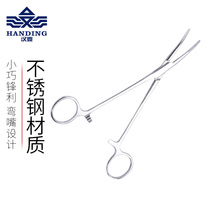 Han Ding stainless steel hook clamp large elbow decoupling curved mouth hemostatic clamp fishing gear fishing supplies road Asia pliers