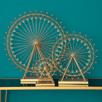 Nordic minimalist iron desktop ornaments Golden Ferris wheel crafts home living room model room decorations