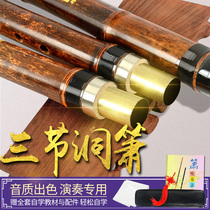 Professional playing three sections six eight holes Xiao high-end adult zero-based antiquity purple bamboo Xiao musical instrument F beginner G tune Xiao