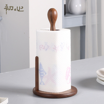 Beginning of the heart of the kitchen with tissue holder wooden vertical creative roll paper holder European household paper roll free punch rack tissue holder