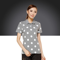 Clearance Li Ning short-sleeved womens summer loose comfortable T-shirt APLJ578 sports life polo shirt