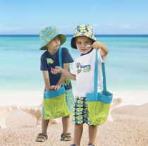 The new model takes the baby to the beach to play with the shell collection bag Collect small toys net bag childrens toy collection bag.