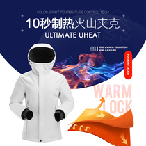 KOLONSPORT Kolon volcanic jacket smart heating cotton women's outdoor sportswear autumn   winter jacket