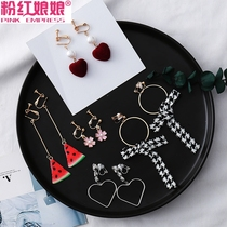 A week without ear clip female Korean simple Mori Department fresh elf student earrings set net red ear hanging painless