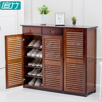 Shoe cabinets Simple Modern foyer cabinets multi-functional living room shoes storage cabinets solid wood Xuan Guan belt door shoe rack Storage