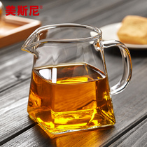 Mecini glass fair Cup thickening heat-resistant tea Home tea Sea Tea drain set kung fu tea accessories
