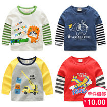 Baby long-sleeved T-shirt 2020 spring new boy childrens clothing sleeve spell multi-color shirt shirt TX-7961