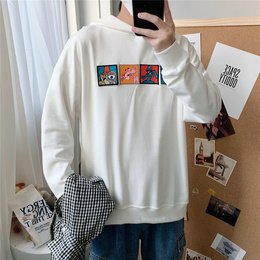 Cartoon weiwear men's 2020 new small fresh label loose-fitting sweater college students spring wear ingress clothes