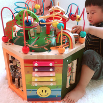 One and a half years old baby puzzle boy intelligence 0-1 years old baby toy early education enlightenment around Pearl treasure box girl