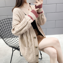 Very fairy net red cardigan sweater female 2019 new womens spring lazy wind spring knitted jacket female spring