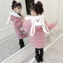 Girls winter clothing 2019 new baby Korean version of the cotton jacket thick coat children yangqi in the long section of down cotton clothing