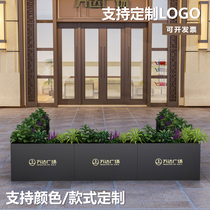 Outdoor iron flower box flower bed flower slot Municipal Commercial Street Sales department square fence partition outside the pendulum combination custom