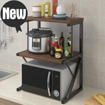Kitchen microwave rack floor-to-ceiling seasoning storage shelf tabletop double shelf oven 0.