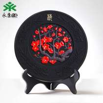 Plum orchid bamboo Chrysanthemum new Chinese living room wine cabinet decorative ornaments painting plant flowers four gentleman enterprise gift custom