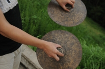 23 ~ 40CM handmade bronze Taoist small top cymbals Taoist law instrument gongs and drums instrument old Copper Black cymbals