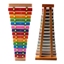 With the exhibition of childrens hands on the xylophone 15 sound percussion instrument aluminum wood adult students Baby music puzzle