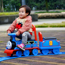 Yue Cheng Thomas small train can ride man with track carriage boy baby 1-6 year old children electric toy car