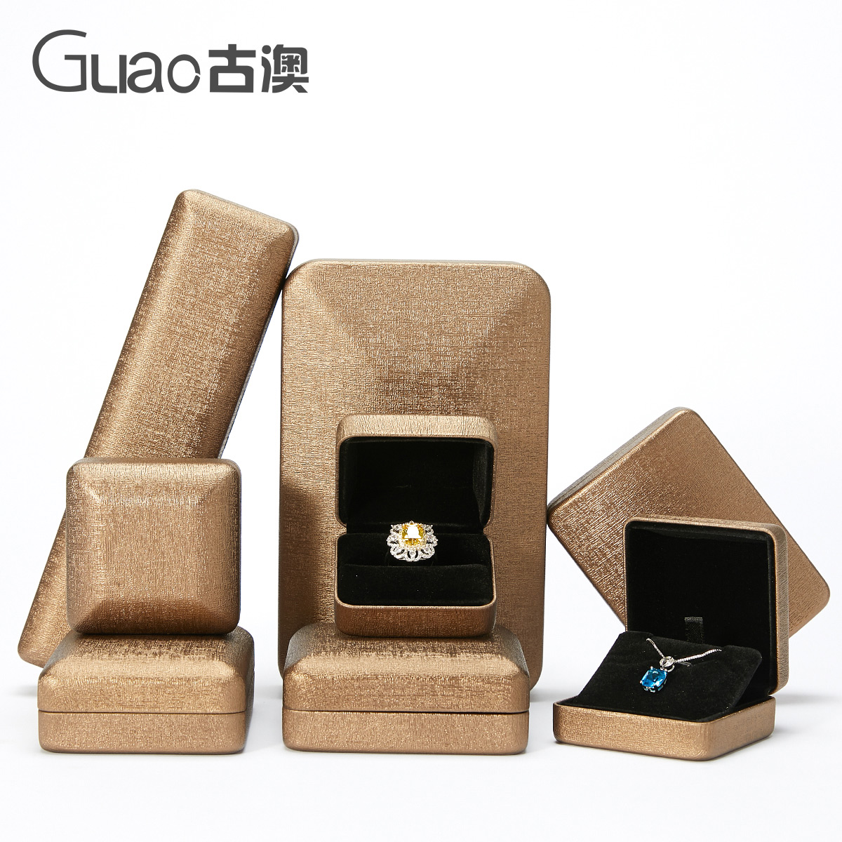 Guao ring box leather jewelry pendant necklace box jewelry collection box to ring box.
