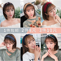 2018 new hair hoop female Korean simple sweet Sen female headdress wide hair band ladies headband hairpin headdress