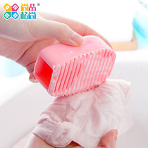 Small Scrub Board mini handheld pickup board clothing cleaning Brush candy Color Thickening Silicone Scrub Board