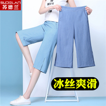 Wide leg pants female summer pants thin section casual pants female 2019 new wild thin loose pants female high waist