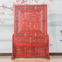 Dongyang wood carving solid wood engraving screen partition living room hotel bedroom Office Xuan Guan Men Yuelong screen