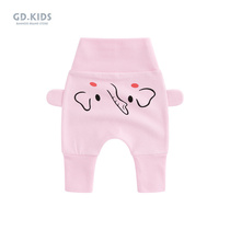 Baby high waist pants childrens trousers girls belly pants spring and autumn section 2019 spring baby pants big ass PP pants