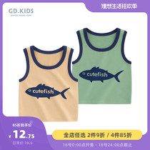 Baby vest summer boy Sling shirt sleeveless T-shirt childrens thin section casual shirt 1 year old baby clothes