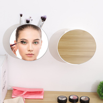 Toilet toilet glass mirror wall-mounted mirror free punch paste wall bathroom self-adhesive bathroom mirror mirror