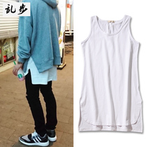 kanye Bieber EXO deer with the vest before the short long solid color primer shirt men and women lengthened cotton vest