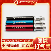 ESSEN small gas cylinder with hose ultra-light aluminum alloy equipped bicycle bike mountain bike road scooter.