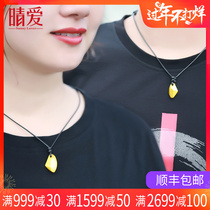 Qing love 999 gold couple necklace a pair of gold pendants men and women pendant genuine new 24K Pure Gold Pendant