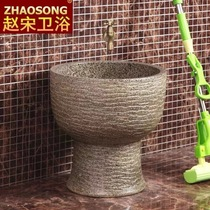Ceramic Siamese retro wash mop pool balcony bathroom mop basin one mop pool large mop pool home