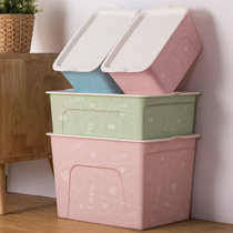 Wo Wo Wo plastic desktop cosmetics storage box clothing storage basket finishing box storage box large storage box