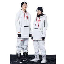 John Snow and NASA co-launches mens and womens single-double-board softshell suit ski suit ski suit hoodie