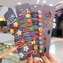Childrens hairpin bb clip card broken hair girl bangs clip does not hurt the hair baby hair card headdress Princess infant hair accessories