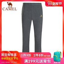 Camel cashmere pants men and women couple models autumn and winter outdoor windproof breathable simple warm fleece pants casual pants trousers